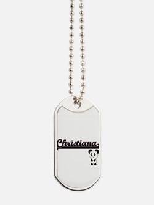 Christiana Classic Retro Name Design with Dog Tags