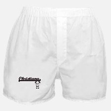 Christiana Classic Retro Name Design Boxer Shorts