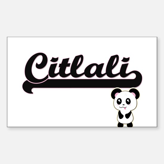 Citlali Classic Retro Name Design with Pan Decal