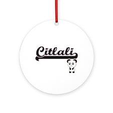 Citlali Classic Retro Name Design Ornament (Round)