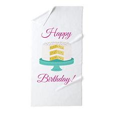 Happy Birthday Beach Towel
