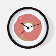 Doughnut with Sprinkles Wall Clock