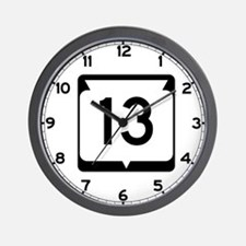 Highway 13, Wisconsin Wall Clock
