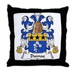 Dumas Family Crest Throw Pillow