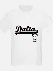 Dalia Classic Retro Name Design with Panda T-Shirt