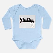 Dalia Classic Retro Name Design with Pan Body Suit