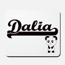 Dalia Classic Retro Name Design with Pan Mousepad