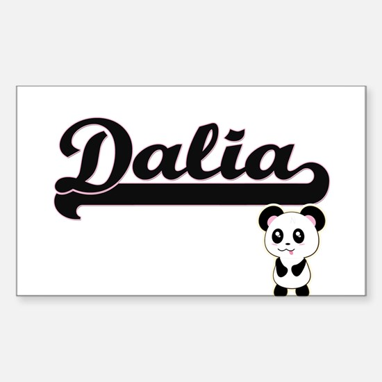 Dalia Classic Retro Name Design with Panda Decal