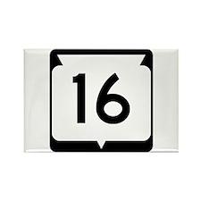 Highway 16, Wisconsin Rectangle Magnet
