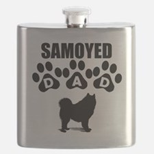 Samoyed Dad Flask