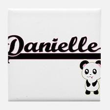 Danielle Classic Retro Name Design wi Tile Coaster