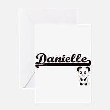 Danielle Classic Retro Name Design Greeting Cards