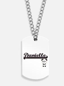 Danielle Classic Retro Name Design with P Dog Tags