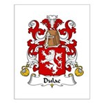 Dulac Family Crest Small Poster