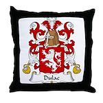 Dulac Family Crest Throw Pillow