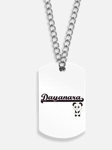Dayanara Classic Retro Name Design with P Dog Tags