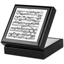 Sheet Music by Bach Keepsake Box