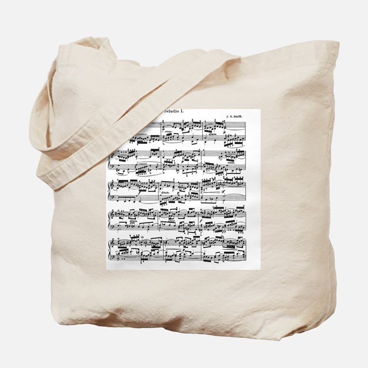 Sheet Music by Bach Tote Bag