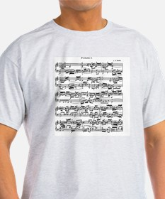 Sheet Music by Bach T-Shirt