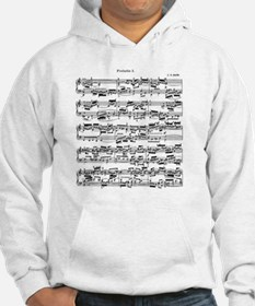 Sheet Music by Bach Hoodie