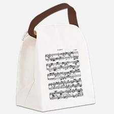 Sheet Music by Bach Canvas Lunch Bag