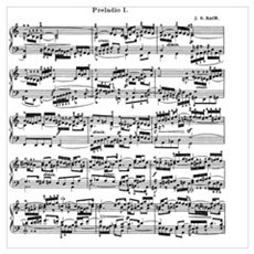 Sheet Music by Bach Poster