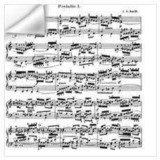 Sheet Music by Bach Wall Decal