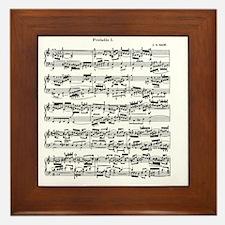 Sheet Music by Bach Framed Tile