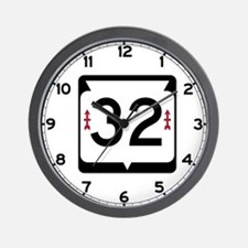 Highway 32, Wisconsin Wall Clock
