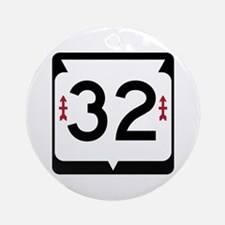 Highway 32, Wisconsin Ornament (Round)