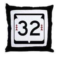 Highway 32, Wisconsin Throw Pillow