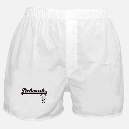 Deborah Classic Retro Name Design wit Boxer Shorts