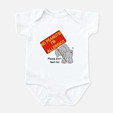 No Peanuts Elephant Infant Bodysuit