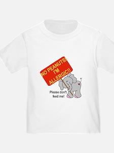 No Peanuts Elephant T