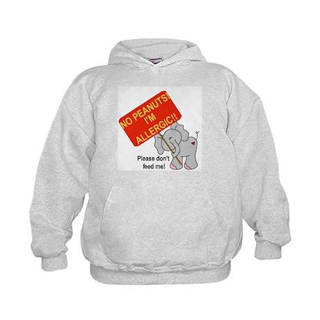 No Peanuts Elephant Kids Hoodie