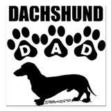 Dachshund dad Square Car Magnets