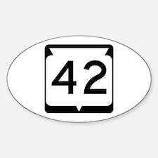 Highway 42, Wisconsin Sticker (Oval)