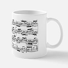 Classical Sheet Music by J. S. Bach Mug