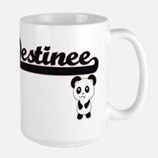 Destinee Classic Retro Name Design with Panda Mugs