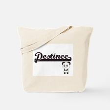 Destinee Classic Retro Name Design with P Tote Bag