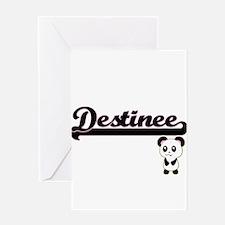 Destinee Classic Retro Name Design Greeting Cards