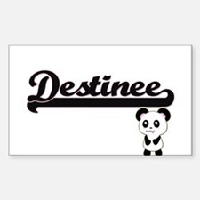 Destinee Classic Retro Name Design with Pa Decal