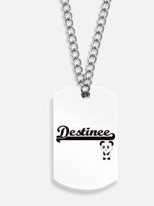 Destinee Classic Retro Name Design with P Dog Tags
