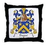 Dugue Family Crest  Throw Pillow