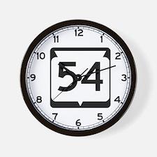 Highway 54, Wisconsin Wall Clock