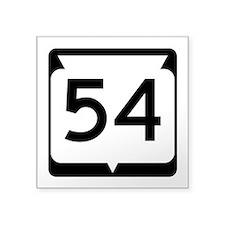 "Highway 54, Wisconsin Square Sticker 3"" x 3"""