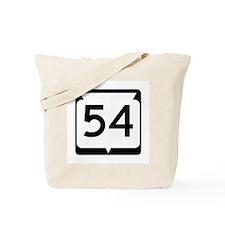 Highway 54, Wisconsin Tote Bag