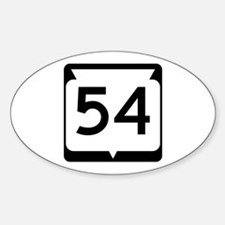 Highway 54, Wisconsin Sticker (Oval)