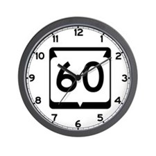 Highway 60, Wisconsin Wall Clock
