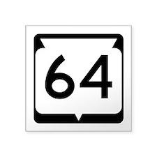 "Highway 64, Wisconsin Square Sticker 3"" x 3"""